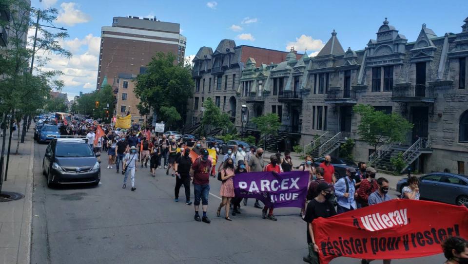 Demonstration against housing crisis