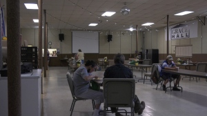 On Saturday the Tomorrow's Hope hosted a special Father's day spaghetti dinner and even though people had to be physically distanced, Johnston says it's all about bringing people together for a sense of connection. June 19/21 (Lyndsay Aelick/CTV News Northern Ontario)