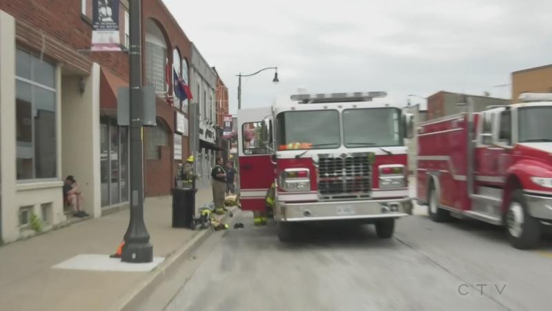 Emergency crews at a gas leak in Wheatley detected two weeks ago (Michelle Maluske / CTV News)