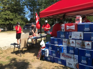The Collingwood and District Kinsmen Club host a bottle drive in Collingwood, Ont. on Saturday, June 19th, 2021 (Luke Simard/CTV)
