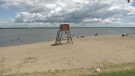 Lifeguards typically start patrolling Robert Simpson Park in Arnprior in July. (Dylan Dyson/CTV News Ottawa)