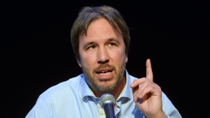 Director Denis Villeneuve speaks about his film 'Sicario,' which will screen at the Cannes Film Festival, during a press conference in Montreal on Thursday, April 16, 2015. THE CANADIAN PRESS/Ryan Remiorz