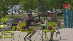 The Barrie Downtown BIA has extended the hours of Open Air Dunlop, as the program is now in its second week of the season on Sat June 19, 21 (Chris Garry/CTV News Barrie)