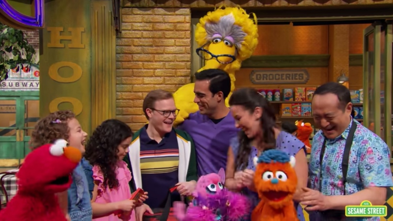 'Sesame Street' introduced two gay dads on its Family Day episode. (From Sesame Street/CNN)