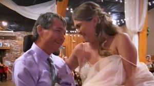 Bride, father share special wedding day moment