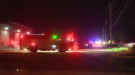 Fire crews deal with a fire on Speedsville Road. (Adam Marsh/CTV Kitchener) (June 19, 2021)