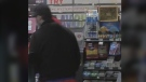 Police are searching for this man in connection to a robbery at a Circle K located on Ferndale Drive Sat. June 19/21 (Courtesy: Barrie Police)