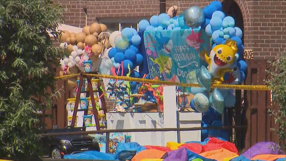 shooting, child, birthday, party