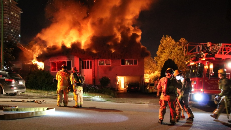 Firefighters responded to a 2nd alarm fire on Lyndhurst Street around 2:30 a.m. in Burnaby, B.C. on Sunday, June 20, 2021.