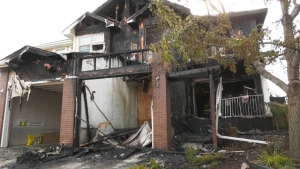 Investigation is underway after a fire broke out inside a duplex in Cranston early Sunday morning.