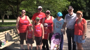'Team Forget Me Not' walking for ALS at Springbank Park in London, Ont. Sunday June 20, 2021 (Brent Lale/CTV London)