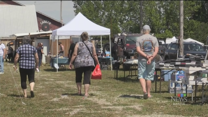 After a challenging year for many businesses, the Elmvale Flea and Farmers Market reopened on Sun June 20, 21 (Luke Simard/CTV News Barrie)