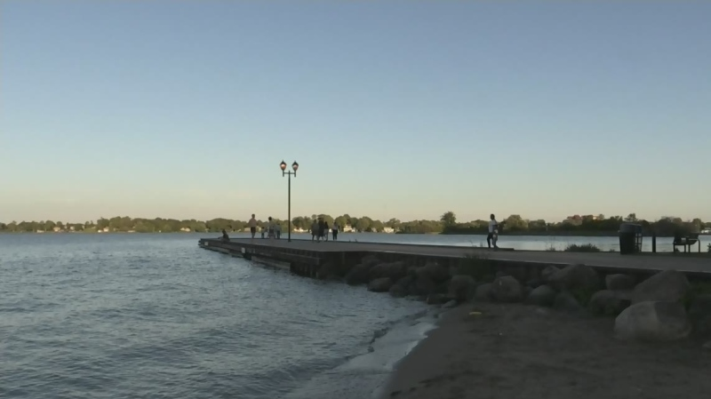 One man has died after drowning at Couchiching Beach Park in Orillia on Sat. June 19/21 (David Sullivan/CTV News Barrie)