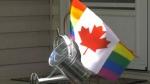 Pride flags stolen from Edmontonians home