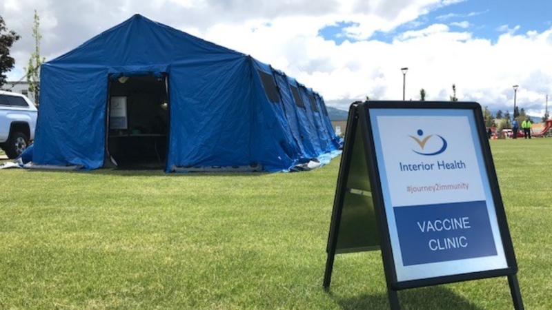 An Interior Health mobile immunization clinic is seen in this photo from the health authority's website.