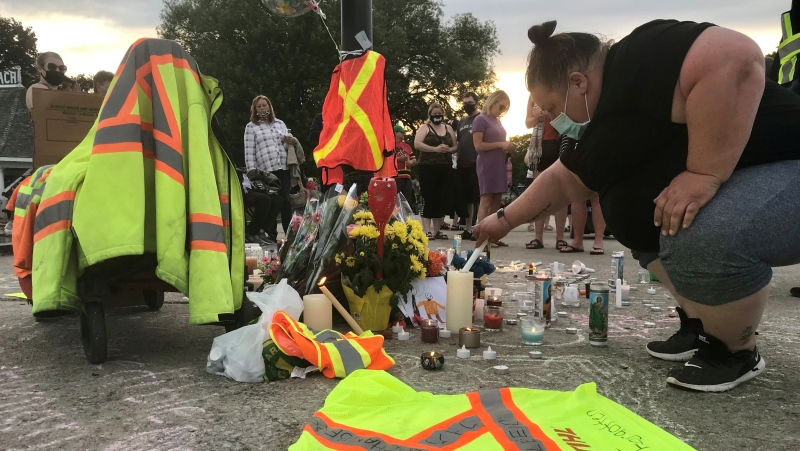 Couchiching Beach Park memorial (Dave Sullivan/ CTV News Barrie)