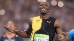 Jamaica's Usain Bolt celebrates gold in the men's 100-metre final during the athletics competition at the 2016 Olympic Summer Games in Rio de Janeiro, Brazil in this August 14, 2016 file photo. THE CANADIAN PRESS/Frank Gunn