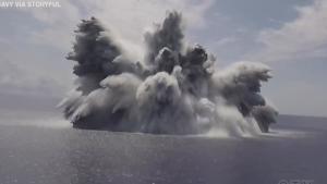 40,000-lb. explosive detonated off U.S. east coast