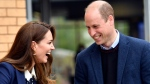 Britain's Prince William and Kate, Duchess of Cambridge at a gardening session during a visit to The Way Youth Zone in Wolverhampton, England, Thursday, May 13, 2021. (Jacob King/Pool Photo via AP)