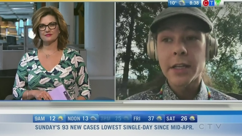 Artist Caid Jones is celebrating National Indigenous Day and sharing his talent with others. Rachel Lagacé explains.