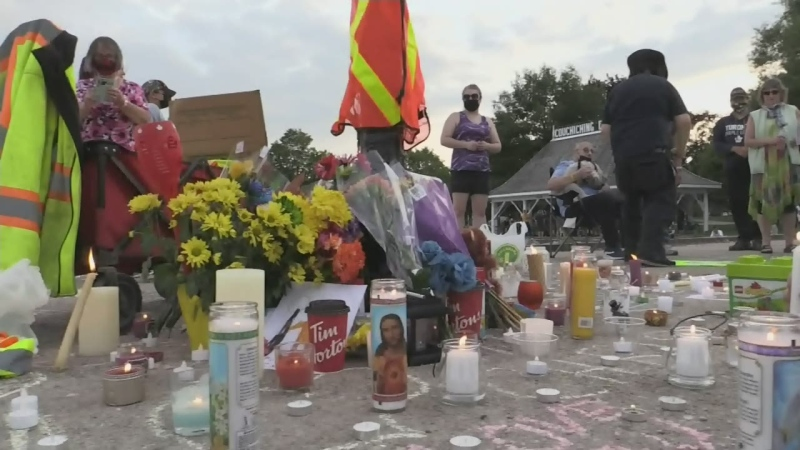 Vigil for drowning victim in Orillia