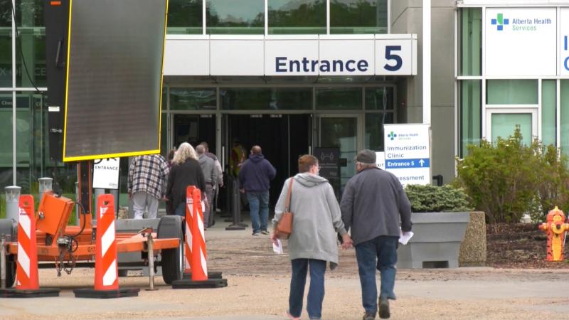 Edmonton EXPO Centre, COVID-19 vaccine clinic