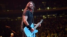 Dave Grohl performs onstage as The Foo Fighters reopen Madison Square Garden on Sunday. (Kevin Mazur/Getty Images via CNN)