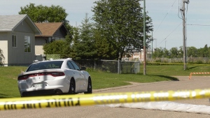 Prince Albert police are investigating a homicide that occurred Sunday afternoon on the 1900 block of 14th Street West. (Jayda Taylor/CTV Prince Albert)