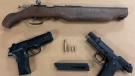 Firearms seized by London police on June 18, 2021. (Supplied)