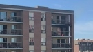 Apartment fire in downtown Calgary