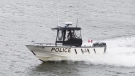 The OPP Marine Unit rescued two people stranded on Georgian Bay in Collingwood, Ont. on Sun. June 20, 2021 (Supplied)