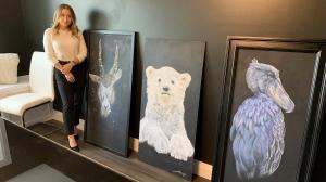 Dorchester, Ont. artist Jade Williamson seen here on June 21, 2021. (Bryan Bicknell/CTV London)
