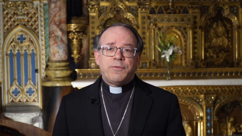 Marcel Damphousse, Archbishop of Ottawa-Cornwall, apologized for the Catholic Church's role in Canada's residential school system in a YouTube video ahead of National Indigenous People's Day. (Archdiocese of Ottawa-Cornwall / YouTube)
