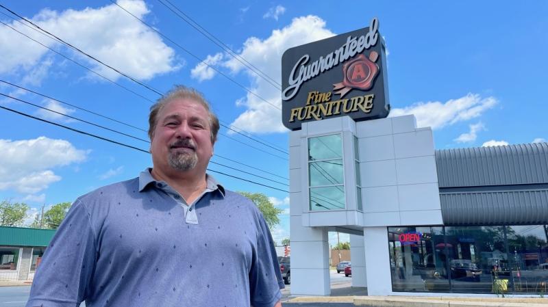 Guaranteed A Fine Furniture owner Richard Vennettelli in Windsor, Ont., on Monday, June 21, 2021. (Melanie Borrelli / CTV Windsor)