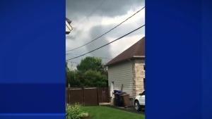 Alice Meunier of Mascouche, Que. spotted a tornado in the area on Monday, June 21, 2021.