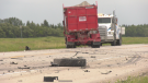 The site of a serious two-vehicle crash on June 21, 2021 on Highway 6. (Source: Glenn Pismenny/CTV News)