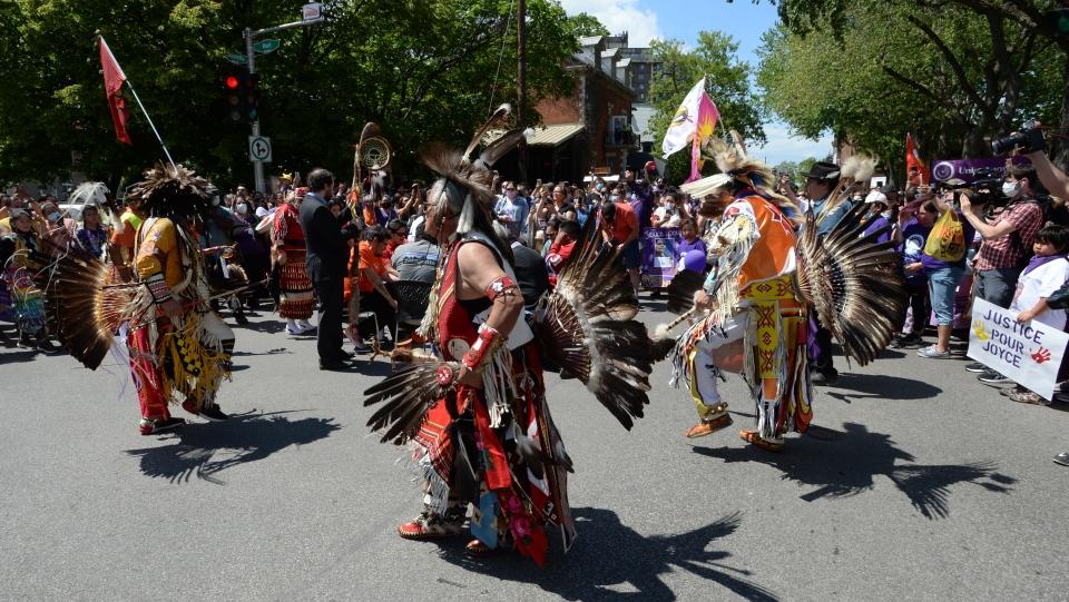 Indigenous dancers in Quebec