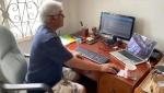 Karam Ramotar working far from home in Guyana. (Supplied by Karam Ramotar)