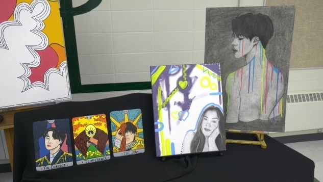 A 17-year-old high school student from Edmonton is creating vibrant artwork to express her Indigenous identity – incorporating animals specific to Indigenous culture such as eagles, bears and wolves.