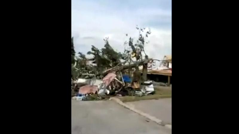 damage from tornado mascouche
