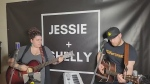 Jessie and Shelly, from Kapuskasing, perform their cover of 'Back to the River,' by a group called The Pretty Reckless.