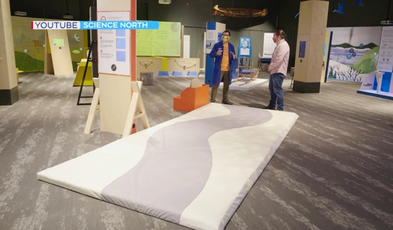 Officials at Science North say a new exhibit is designed to elevate Indigenous people while providing a hands-on experience with inventions and techniques that still influence society today. (Photo from video)