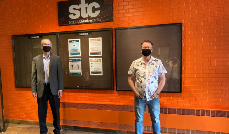 Pictured are Ralph McIntosh (left) and John McHenry. As Ontario moves into stages that will allow more venues to open, the Sudbury Theatre Centre is now accepting registrations for summer theatre camps. (Alana Everson/CTV News)