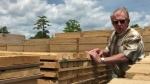 Robin Wilber runs a lumberyard in Elmsdale, N.S. He says as lumber production is now able to ramp up, prices are now starting to come down.