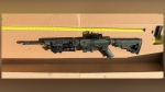 A photo of the .22-calibre firearm ASIRT says RCMP recovered from the scene of an incident in northern Alberta that left one man and a police dog dead (Source: ASIRT)