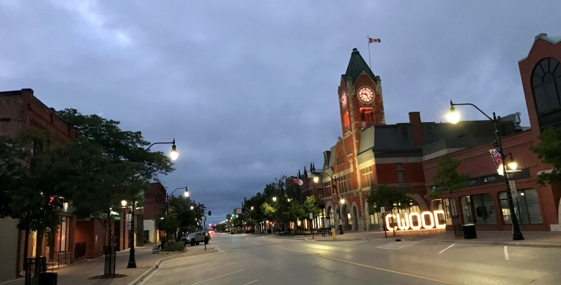 Collingwood clock tower lit in orange for National Indigenous Peoples Day (Dave Sullivan / CTV News)