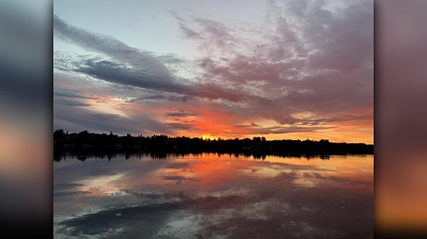 Sunset over Lee River. Photo by Lorraine.
