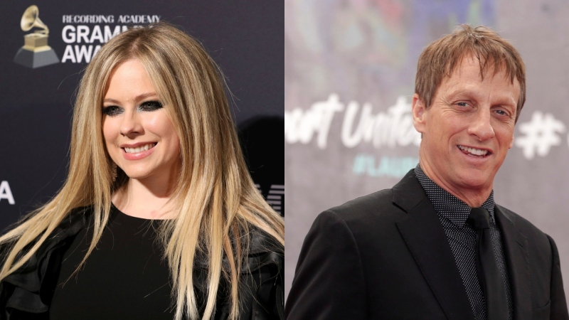 Avril Lavigne has joined forces with true 'Sk8er Boi' legend Tony Hawk to mark her TikTok debut. (AP photo)