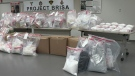 Drugs seized as part of 'Project Brisa' are shown in a TPS handout image.