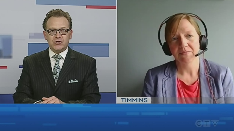 Dr. Lianne Catton, PHU medical officer of health, discusses COVID-19 trends. June 22/21 (Tony Ryma/CTV Northern Ontario)